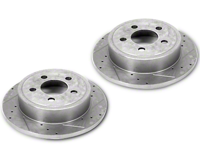 Alloy USA Slotted & Drilled Disc Brake Rotors - Front Pair (90-99 Jeep Wrangler YJ & TJ)