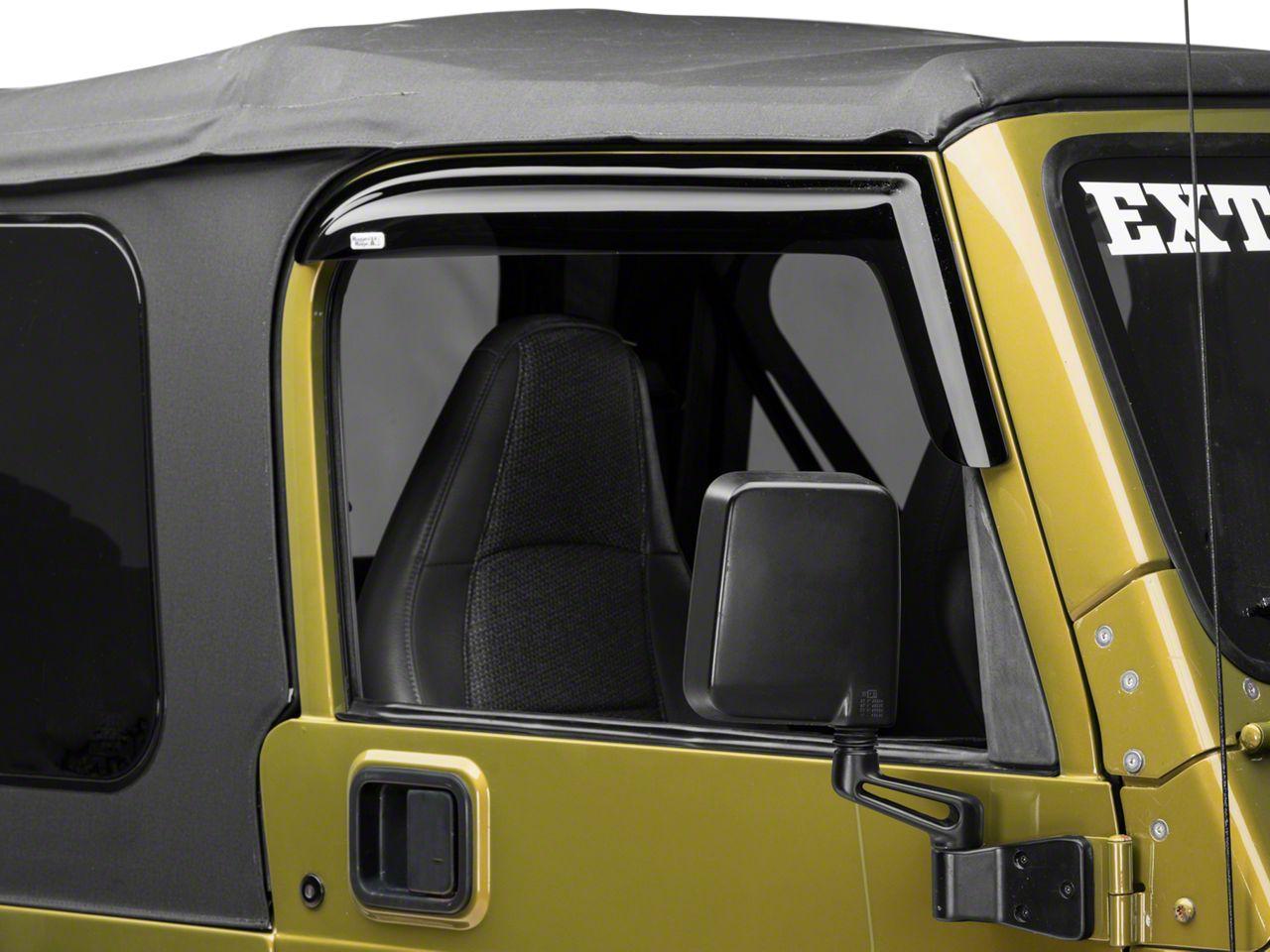Rugged Ridge Smoked Acrylic Front Window Rain Deflectors (97-06 Jeep Wrangler TJ)