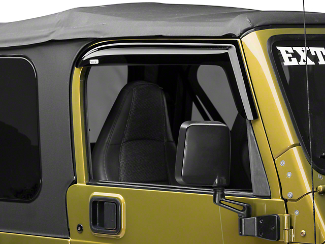 Rugged Ridge Window Rain Deflectors; Smoked (97-06 Jeep Wrangler TJ)