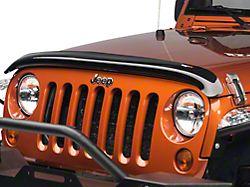 Rugged Ridge Hood Bug Deflector; Smoked (07-18 Jeep Wrangler JK)