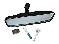 Interior Rear View Mirror Kit; Black; 8.5-Inch Wide (73-86 Jeep CJ5 & CJ7)