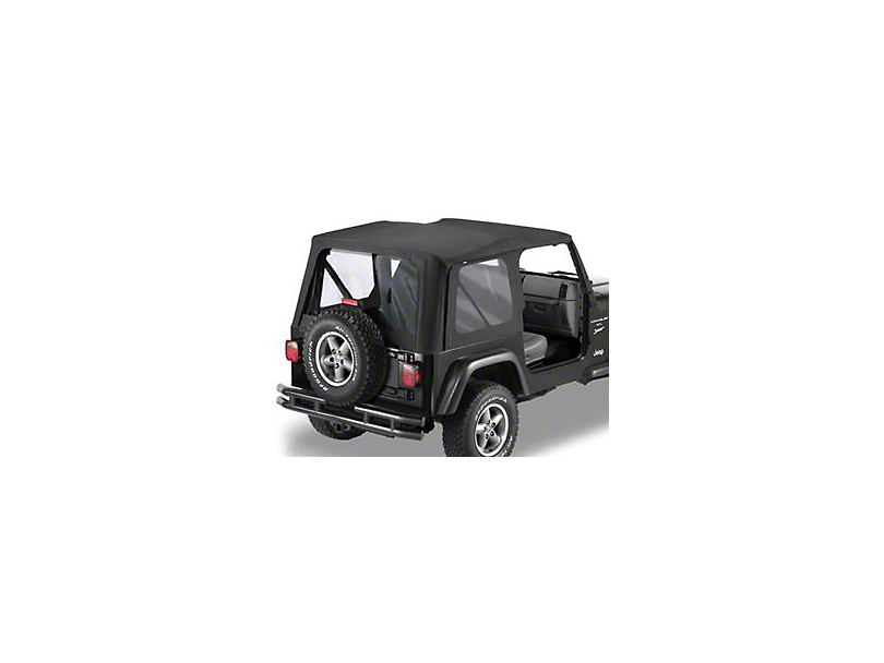 Bestop Replace-A-Top with Clear Windows; Black Denim (97-02 Jeep Wrangler TJ w/ Full Doors)
