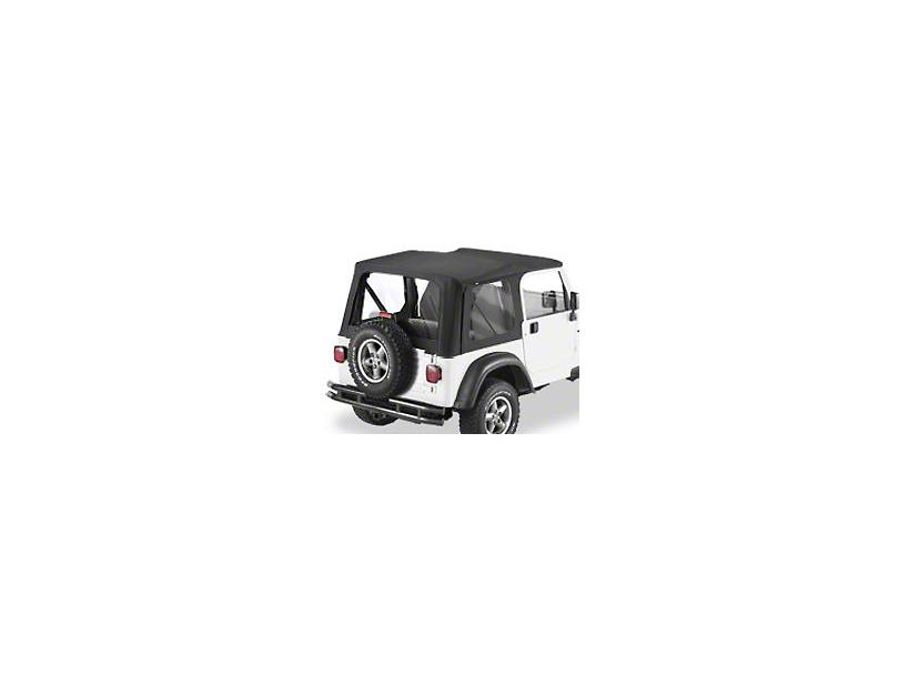 Bestop Replace-A-Top w/ Clear Windows - Black Diamond (03-06 Jeep Wrangler TJ w/ Full Steel Door)