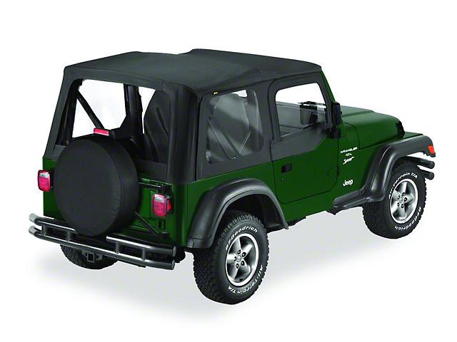 Bestop Replace-A-Top w/ Clear Windows - Black Diamond (03-06 Jeep Wrangler TJ w/ Half Steel Door)