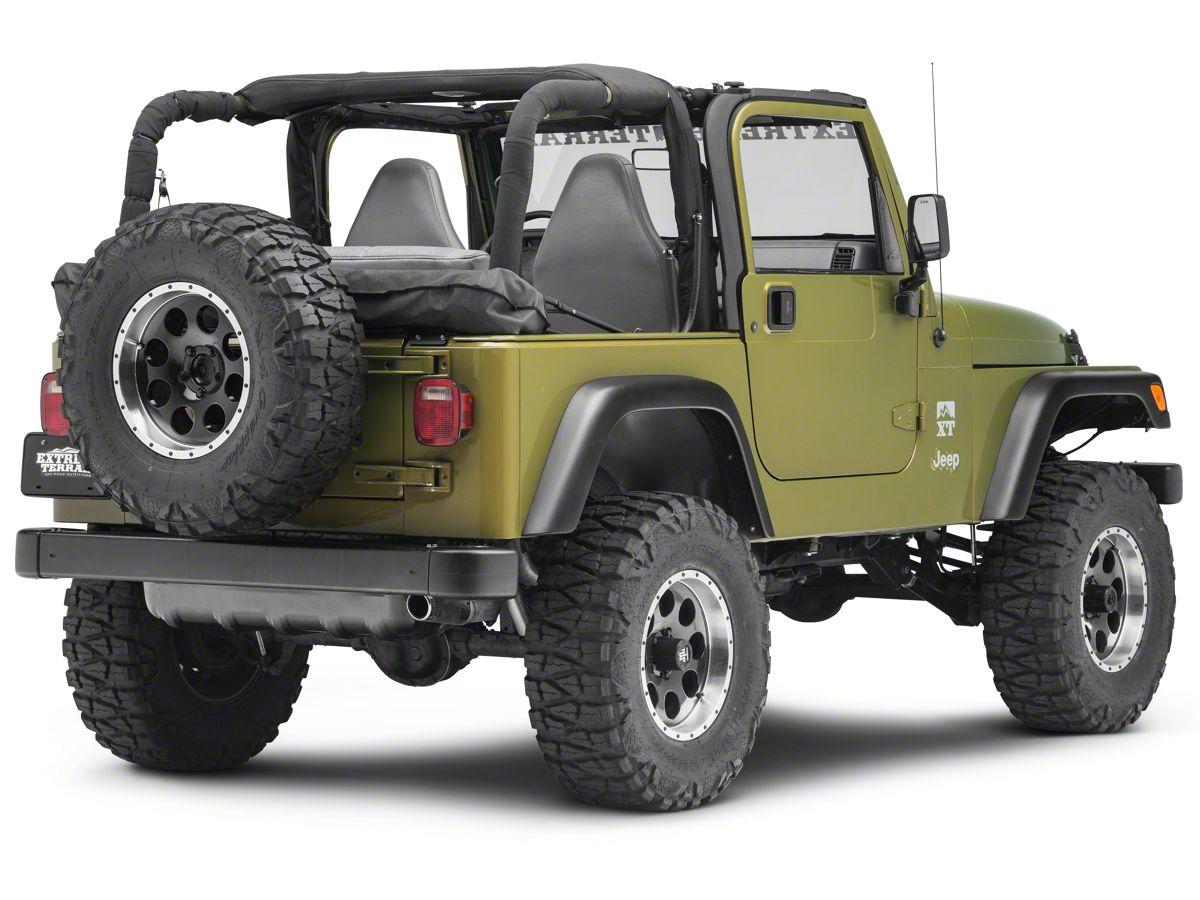 Rugged Ridge Soft Top Storage Boot Black Denim 92 04 Jeep Wrangler Yj Tj