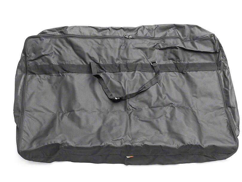 Rugged Ridge Soft Top Window Storage Bag - Black (87-06 Jeep Wrangler YJ & TJ)