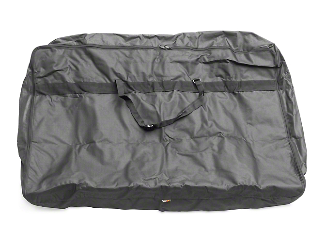 Rugged Ridge Soft Top Window Storage Bag   Black (87 06 Wrangler YJ U0026 TJ)