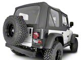 Rugged Ridge Replacement Soft Top with Tinted Windows and Door Skins - Black Diamond (03-06 Jeep Wrangler TJ, Excluding Unlimited)
