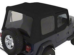Rugged Ridge Replacement Soft Top with Tinted Windows and Door Skins; Black Denim (88-95 Jeep Wrangler YJ)