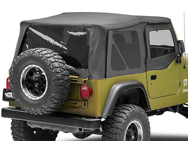 Rugged Ridge Replacement Soft Top with Tinted Windows and Door Skins; Black Denim (97-02 Jeep Wrangler TJ)