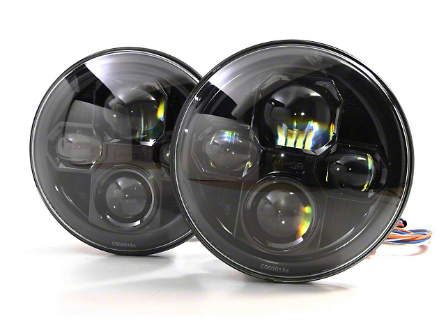 Morimoto Sealed7 LED Headlights; Black Housing; Clear Lens (07-18 Jeep Wrangler JK)