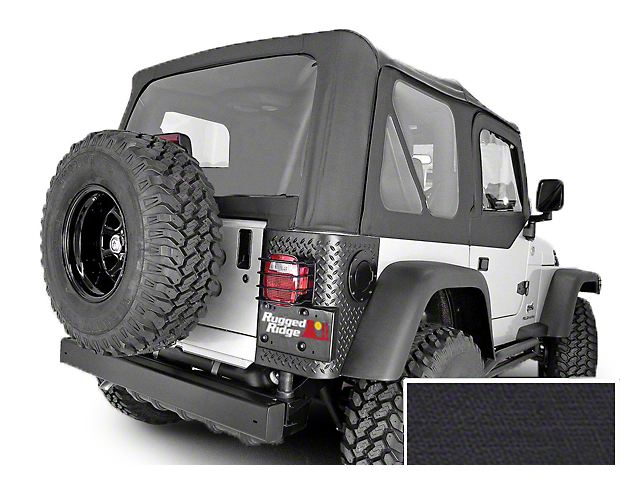 Rugged Ridge Replacement Soft Top with Tinted Windows and No Door Skins; Black Diamond (03-06 Jeep Wrangler TJ, Excluding Unlimited)