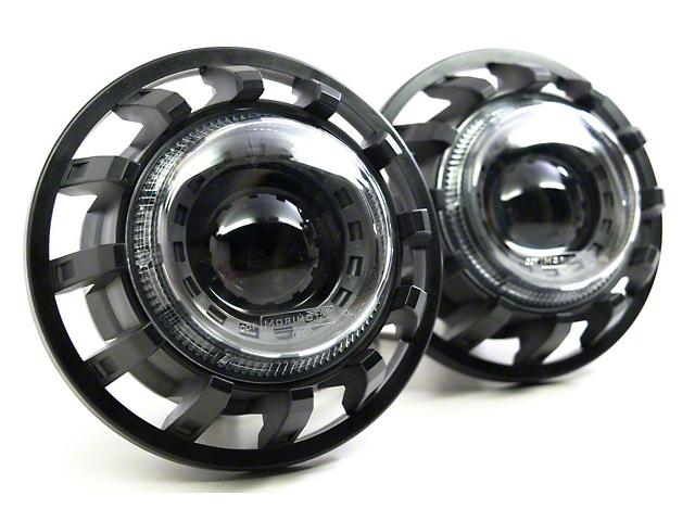 Morimoto Super7 LED Headlights; Black Housing; Clear Lens (07-18 Jeep Wrangler JK)