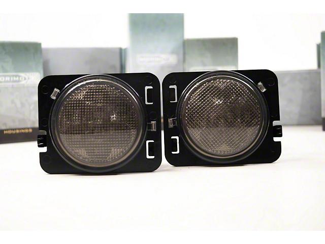 Morimoto XB LED Parking Lights; Amber/Smoked (07-18 Jeep Wrangler JK)