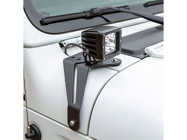 2-Inch Windshield LED Lights with Mounting Brackets (20-22 Jeep Gladiator JT)