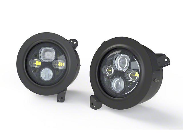 Morimoto Sealed7 LED Headlights; Black Housing; Clear Lens (18-21 Jeep Wrangler JL)