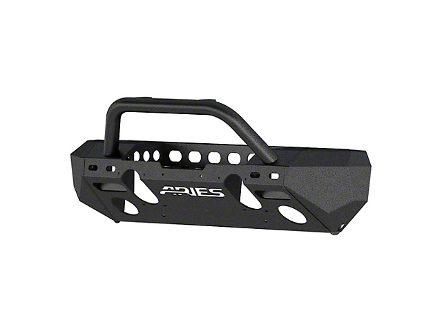 TrailChaser Steel Stubby Front Bumper with Brush Guard (20-22 Jeep Gladiator JT)