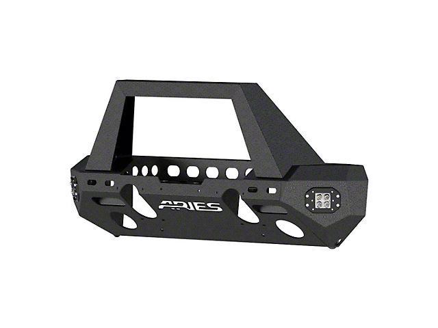 TrailChaser Steel Stubby Front Bumper with Grille Guard (18-21 Jeep Wrangler JL)