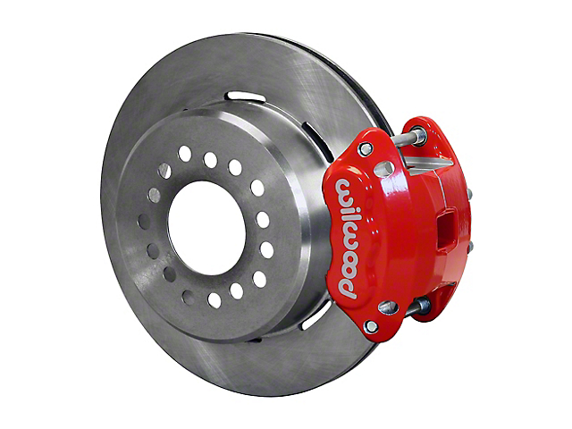Wilwood D154 Rear Parking Brake Kit with 12.19-Inch Undrilled Rotors; Red (97-02 Jeep Wrangler TJ)