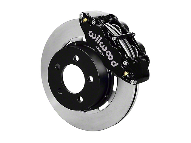 Wilwood Forged Narrow Superlite 4R Front Big Brake Kit with 12.19-Inch Undrilled Rotors; Black Calipers (87-89 Jeep Wrangler YJ)