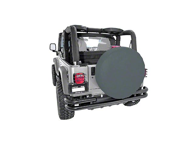 Rugged Ridge Spare Tire Cover for 27-29 in. Tire - Black Denim (87-19 Jeep Wrangler YJ, TJ, JK & JL)