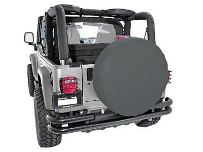 Rugged Ridge Spare Tire Cover for 27-29 in. Tire - Black Diamond (87-18 Jeep Wrangler YJ, TJ, JK & JL)