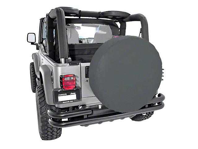 Rugged Ridge Spare Tire Cover; Black Diamond; 30 to 32-Inch Tire Cover (87-20 Jeep Wrangler YJ, TJ, JK & JL)