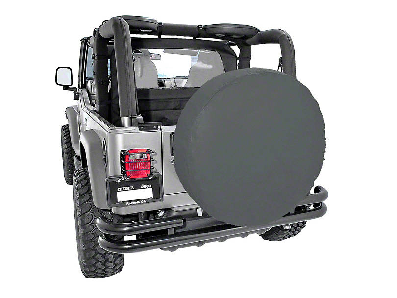 Rugged Ridge Spare Tire Cover; Black Diamond; 33-Inch Tire Cover (87-20 Jeep Wrangler YJ, TJ, JK & JL)