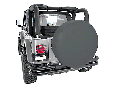Rugged Ridge Spare Tire Cover for 33 in. Tires - Black Diamond (87-18 Wrangler YJ, TJ, JK & JL)