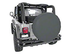 Rugged Ridge Spare Tire Cover for 33 in. Tires - Black Diamond (87-19 Jeep Wrangler YJ, TJ, JK & JL)