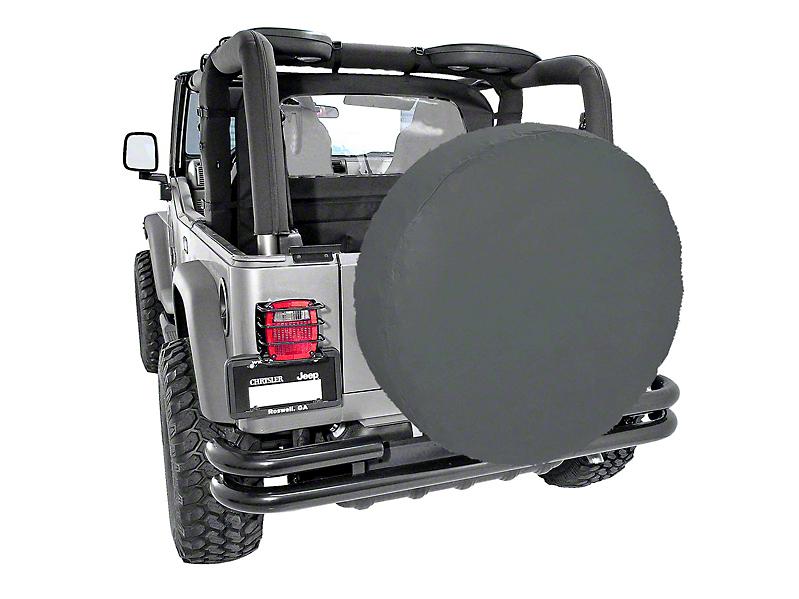 Rugged Ridge Spare Tire Cover for 35-36 in. Tires - Black Diamond (87-18 Wrangler YJ, TJ, JK & JL)