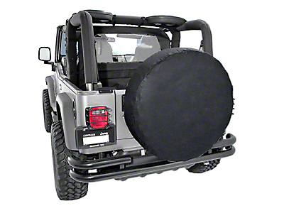 Rugged Ridge Spare Tire Cover for 30-32 in. Tire - Black (87-18 Wrangler YJ, TJ, JK & JL)