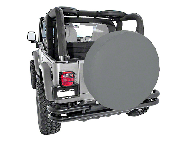 Rugged Ridge Spare Tire Cover for 33 in. Tires - Gray (87-19 Jeep Wrangler YJ, TJ, JK & JL)