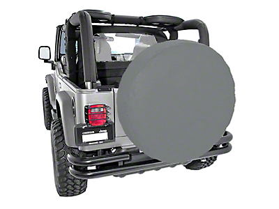 Rugged Ridge Spare Tire Cover for 35-36 in. Tires - Gray (87-18 Jeep Wrangler YJ, TJ, JK & JL)