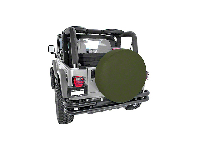 Rugged Ridge Spare Tire Cover for 27-29 in. Tire - Khaki Diamond (87-20 Jeep Wrangler YJ, TJ, JK & JL)
