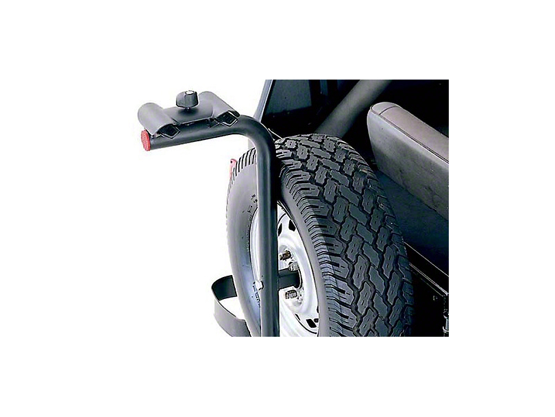 Rugged Ridge Spare Tire Mount Bike Carrier w/ offset of 2.63 in. - 6 in. (87-02 Wrangler YJ & TJ)