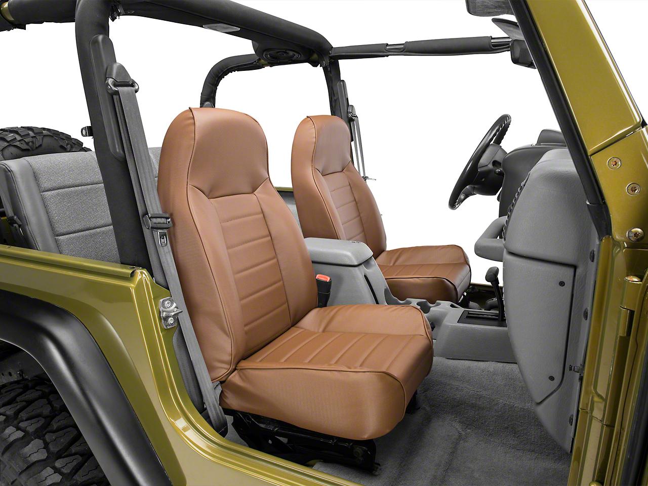 Smittybilt Standard Front Bucket Seat - Spice Denim (87-06 Jeep Wrangler YJ & TJ)