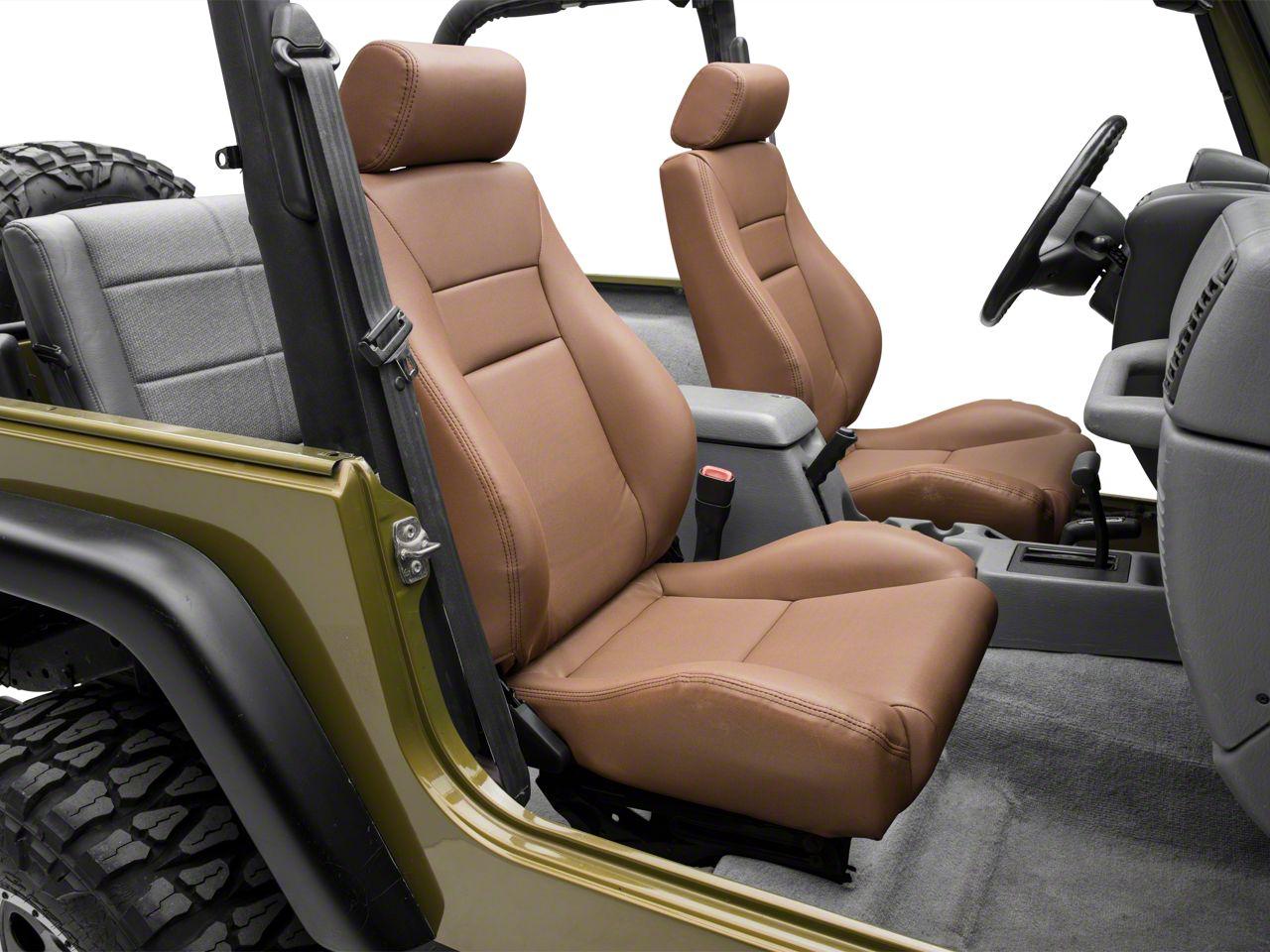 Smittybilt Front Contour Sport Bucket Reclining Seat - Spice Denim (87-02 Jeep Wrangler YJ & TJ)