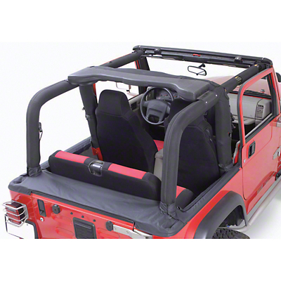 Rugged Ridge Sport Bar Cover Kit - Black Denim (92-95 Jeep Wrangler YJ)