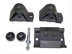 Engine Mount Kit; Rear Brake Pad Pin Kit (87-90 2.5L Jeep Wrangler)
