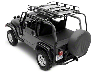 Smittybilt SRC Roof Rack - 300 lb. Rating - Black Textured (07-18 Wrangler JK 2 Door)