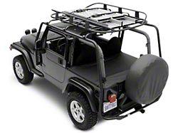 Smittybilt SRC Roof Rack; Textured Black (07-18 Jeep Wrangler JK 2 Door)
