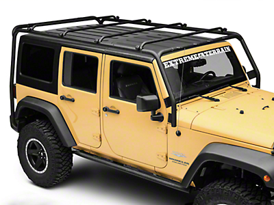 Smittybilt SRC Roof Rack - 300 lb. Rating - Black Textured (07-17 Wrangler JK 4 Door)