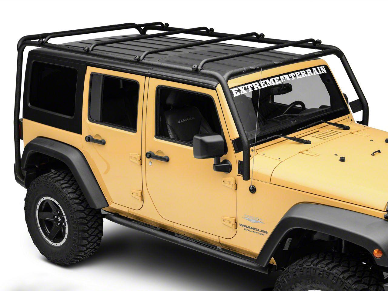 Smittybilt Jeep Wrangler Src Roof Rack 76717 07 18 Jeep Wrangler Jk 4 Door