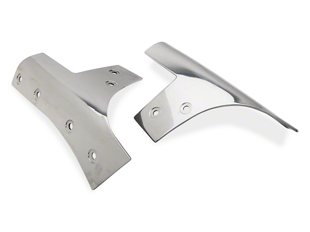 Rugged Ridge Windshield Hinges; Stainless Steel (07-18 Jeep Wrangler JK)