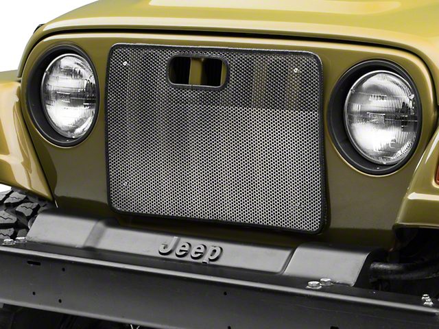 Rugged Ridge Bug Grille Screen; Stainless Steel (97-06 Jeep Wrangler TJ)