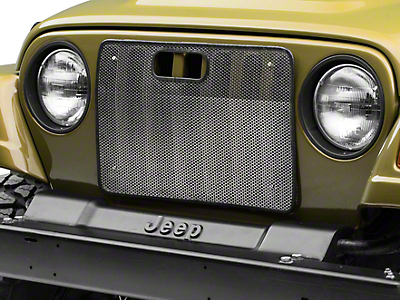 Rugged Ridge Bug Grille Screen - Stainless Steel (97-06 Jeep Wrangler TJ)