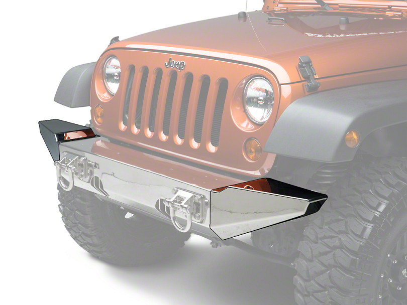 Rugged Ridge Bumper Ends for XHD Front Bumper - Stainless Steel (07-18 Wrangler JK; 2018 Wrangler JL)