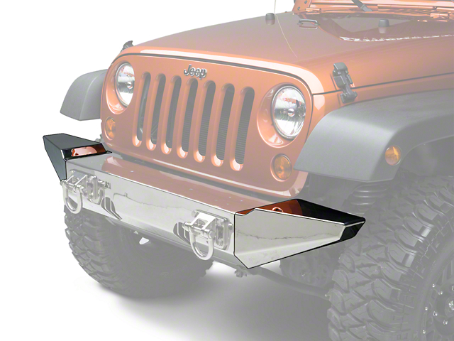 Rugged Ridge Bumper Ends for XHD Front Bumper - Stainless Steel (07-17 Wrangler JK)