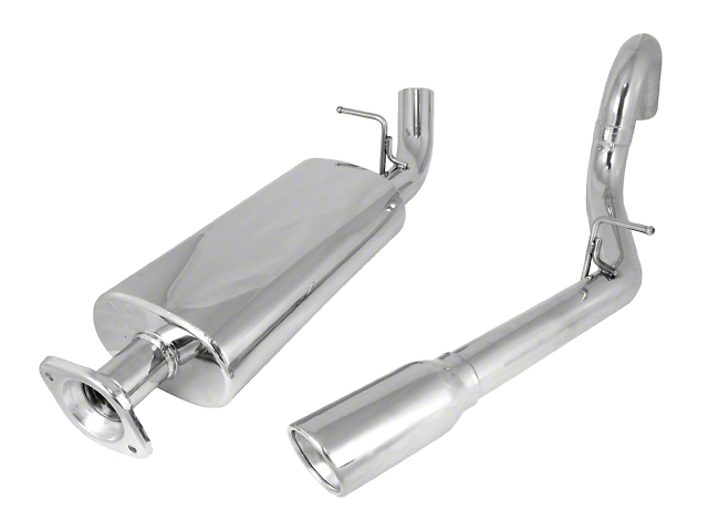 Rugged Ridge Stainless Steel Cat-Back Exhaust (00-06 2.4L, 2.5L or 4.0L Wrangler TJ, Excluding Unlimited)